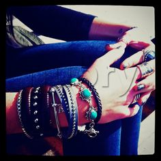 Have fun with jewelry...go ahead & pile on the bracelets!
