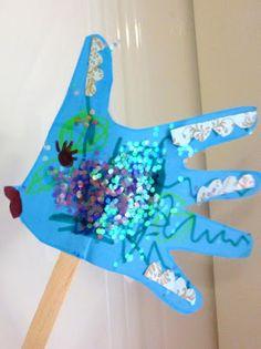 Fishy Handprint Puppets