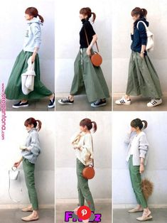 If you need casual, attempt tucking mini skirt within the One. Fashion Mode, Fall Fashion Outfits, Mode Outfits, Japan Fashion, Fashion Pants, Daily Fashion, Hijab Fashion, Love Fashion, Skirt Outfits Modest