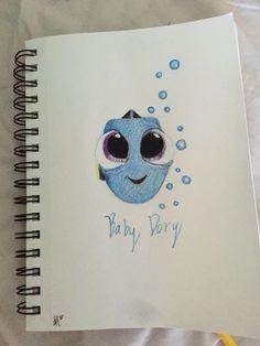 Meine Disney Zeichnung - El bebe dory Idee di Tendenza Dessin Creative e Pregai o Evangelho ? Easy Disney Drawings, Disney Sketches, Cartoon Drawings, Easy Drawings, Drawing Disney, Pencil Drawings, Dory Drawing, Drawing Sketches, Painting & Drawing