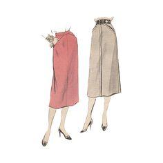 Vintage Vogue 8290 Mid Calf Skirt Waist Size by RedcurlzsPatterns