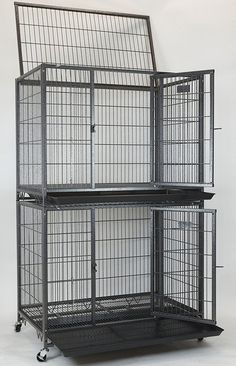 New 37' Homey Pet Open Top Heavy Duty Dog Pet Cage Kennel w/ Tray, Floor Grid, and Casters (37' Plastic Grid) ^^ You can find more details here : Dog kennels