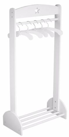 White Wooden Clothes Rail: Star - The Simply Small Company