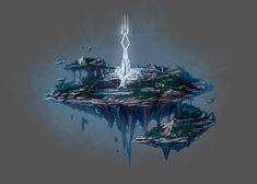 Oenn, foggy flying island by exellero.deviantart.com on @DeviantArt