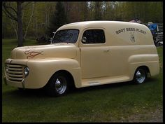 """1948 Ford F1 Panel Truck. """" oh, wine...this is my baby, my dream, in my color."""" ....dl"""