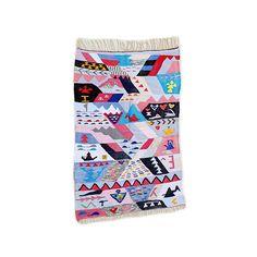 "71""X47"" Handwoven moroccan kilim rug, boucherouite rug, handmade rug, geometric pattern, colorful rug, chic ethnic, moroccan decor"