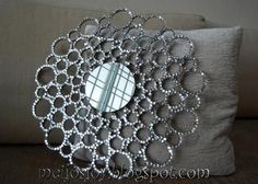 Sequin sunburst mirror.....this is awesome and so cheap and easy.....