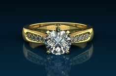 """Diamond Ring - Beautiful Round cut 2.07 CT K SI1 in FREE 18KT Solid Yellow Gold    Great Sale Price - $5,407.00 - 60% OFF the Retail Price,    Give us a """"LIKE"""" on FACEBOOK to receive additional 10% off.  https://www.facebook.com/Brilliant.Rocks.Diamonds"""