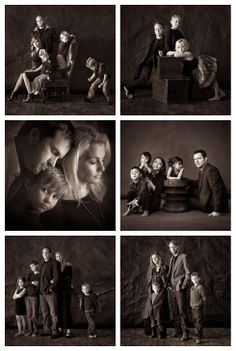 Family Photo Studio, Studio Family Portraits, Family Portrait Poses, Family Portrait Photography, Family Posing, Family Photos, Indoor Family Photography, Retro Photography, Group Picture Poses