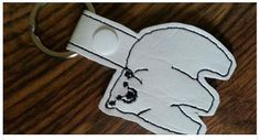Polar Bear keyfob machine embroidery design by NortyUnicorns