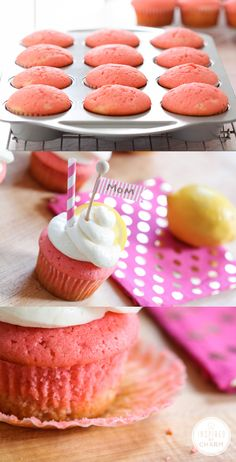Mother's Day Pink Lemonade Cupcakes