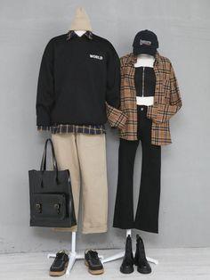 Korean Fashion – How to Dress up Korean Style – Designer Fashion Tips Fashion Couple, Cute Fashion, Fashion Outfits, Korean Fashionista, Cool Outfits, Casual Outfits, Matching Couple Outfits, Ulzzang Fashion, Korean Outfits