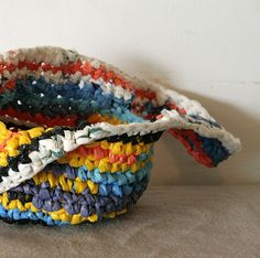 Love the colors!   Recycled plastic bag colorful crochet by MammaEarthCreations, $19.90