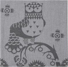 Iittale Taika Kussenovertrek - 50 x 50 cm - Grijs All The Small Things, Dark Walls, Scandinavian Design, Cushions, Textiles, Kids Rugs, Cover, Owls, Passion