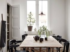 75 Vintage Dining Table Design Ideas DIY – Best Home Decorating Ideas Interior Exterior, Kitchen Interior, Interior Architecture, Interior Design, Modern Spaces, Modern Homes, Dining Table Design, Home And Deco, Decoration