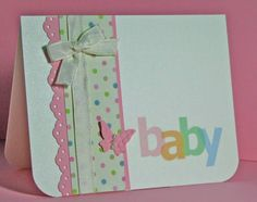 Sweet baby card...need to make one