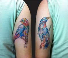 i LOVE these bird watercolor tattoos!