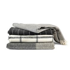 With a sophisticated palette and meticulous craftsmanship, each throw is crafted using time-honored techniques in Ireland or the United Kingdom. The throws have a wonderful density and a soft hand, making them ideal for use on beds or as blankets on your sofa. The blankets are woven by Simply Birch, and Irish-based c