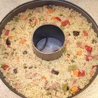 Ρύζι με κάρυ και μπέικον