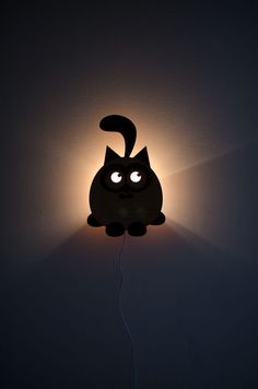 Night lamp in laser cut wood. #Crafts