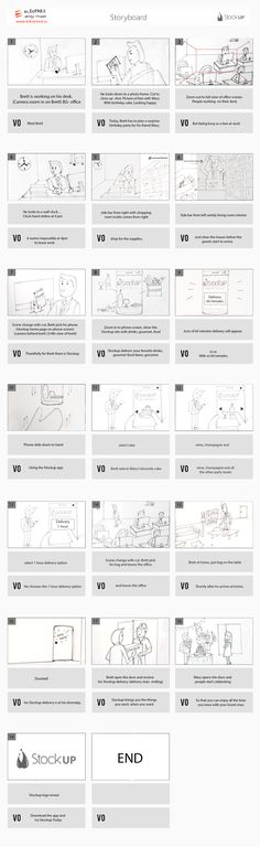 Storyboard for Stockup.  Looking for explainer video? Please visit: www.eleopard.in  more videos at: https://vimeo.com/eleopard