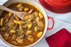This recipe will feed you for days. The potatoes and chicken are cooked slowly in a deep, rich, spicy sauce. The chicken will become so tender and the mixture of spices create a distinct taste that is wonderful on its own or served over rice.  This recipe is initially based on the Cholent recipe, but here are the variations with totally different ingredients and of course no beans.