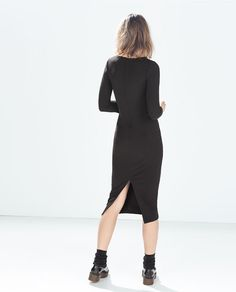 Image 2 of V-NECK TUBE DRESS from Zara
