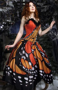 "Dress ""Butterfly"", inspired by butterflies, long, for any occasion"