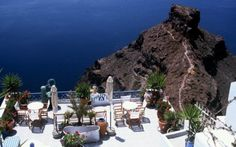 let's take our breakfast here, Santorini, Greece