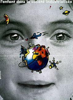 """By Grapus, """"L'enfant dans la société industrialisée"""" (""""Children in the industrialized society"""")"""