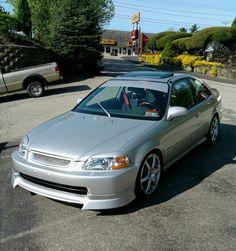 98 Honda  Civic EX CUSTOM by Kurt sold sept 2012    18,253 miles