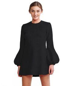 Bonded Suede Bell Sleeve Dress