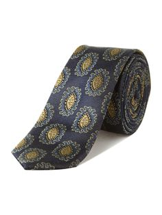 Ted Baker Oval pattern tie, Navy