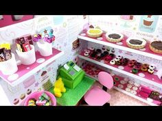 DIY Miniature Sweet Bakery Donut Shop - YouTube