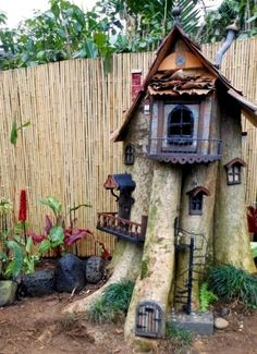 Turn an old tree stump into a fairy home