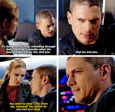 #LegendsofTomorrow #Season1 #1x15 I legit screamed when he was talking about a future with him and her :)))
