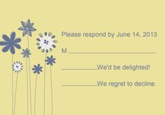 Cheap Navy Blue Sun Flowers Wedding Invitations IWI277