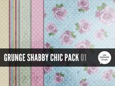 grunge shabby chic texture pack