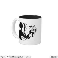 Looney Tunes - Your Custom 11 oz Two-Tone Mug cat. Regalos, Gifts. Producto disponible en tienda Zazzle. Tazón, desayuno, té, café. Product available in Zazzle store. Bowl, breakfast, tea, coffee. Día de los enamorados, amor. Valentine's Day, love. #ValentinesDay #SanValentin #love #taza #mug #PepeLePew #LooneyTunes #LooneyTunes