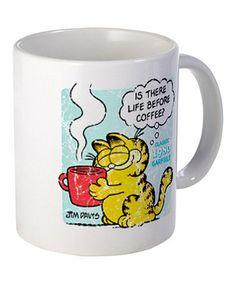 Look at this #zulilyfind! Garfield 'Life Before Coffee' 11-Oz. Mug #zulilyfinds