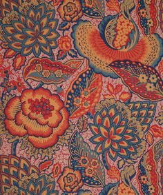 Patricia Anne Wallpaper in Spice | Nesfield collection by Liberty Art Fabrics - Interiors | Liberty.co.uk