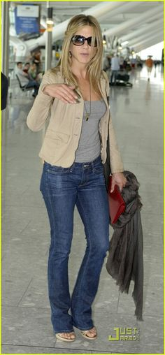 A scarf, a little jacket, jeans and some cute peek a toe shoes is a perfect casual travel outfit!