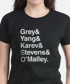 Grey, Yang, Karev, Stevens, Omalley Tee for