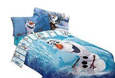 Olaf Comforter Twin/Full Disney Frozen Snowman Blanket Reversible New Bedding  #Disney