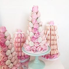 Obsessed with these strawberry and macaroon towers Credit: @strawberriesandco_ #... | Use Instagram online! Websta is the Best Instagram Web Viewer!