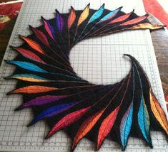 Ravelry: Dreambird KAL pattern by Nadita Swings. Saw this pattern in a yarn store window: ah-maZing!!!