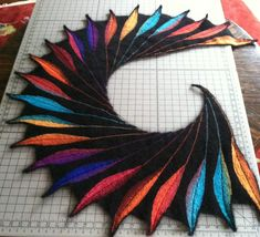 Ravelry: Dreambird KAL pattern by Nadita Swings. Saw this pattern in a yarn store window: ah-maZing!!!