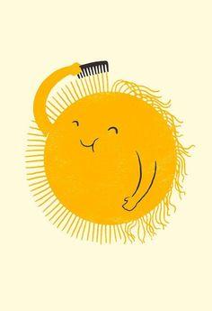 yellow sun #illustration