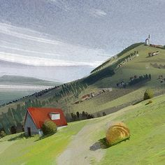 plein air sketches by Maciej Sidorowicz on ArtStation. Eyvind Earle, Environment Concept Art, Children's Book Illustration, Illustrators, Beautiful Places, Backgrounds, Sketches, Animation, Draw