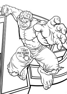 Hulk jumps coloring pages for kids printable free